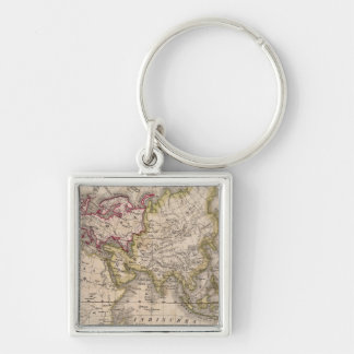 Eastern Hemisphere 4 Silver-Colored Square Key Ring