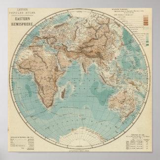 Eastern Hemisphere 4 Poster