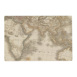 Eastern Hemisphere 5 Laminated Placemat