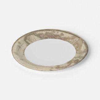 Eastern Hemisphere 5 Paper Plate