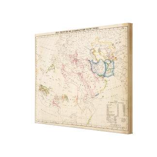 Eastern Hemisphere 6 Stretched Canvas Print