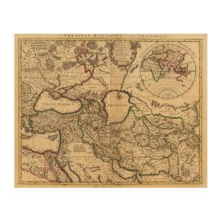 Eastern Hemisphere and Rome Wood Print