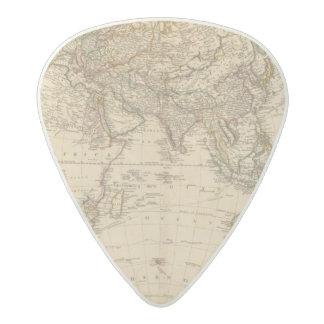 Eastern Hemisphere Circular Map Acetal Guitar Pick