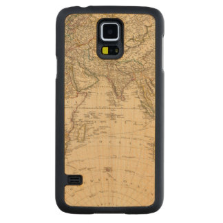 Eastern Hemisphere Circular Map Carved Maple Galaxy S5 Case