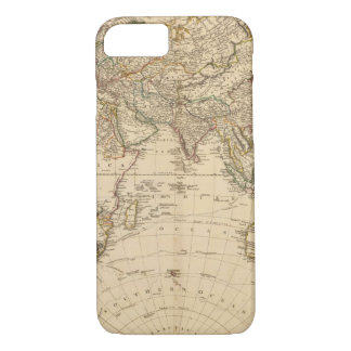 Eastern Hemisphere Circular Map iPhone 7 Case
