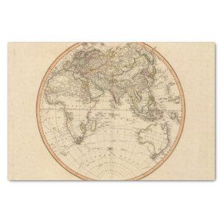 Eastern Hemisphere Circular Map Tissue Paper