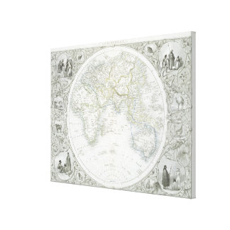 Eastern Hemisphere, from a Series of World Maps pu Canvas Print