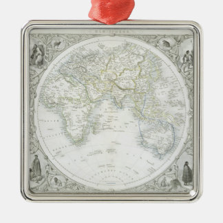 Eastern Hemisphere, from a Series of World Maps pu Christmas Ornament