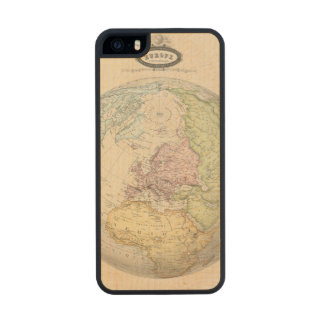 Eastern Hemisphere of Europe Carved® Maple iPhone 5 Case
