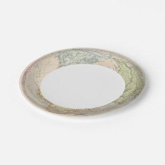 Eastern Hemisphere of Europe Paper Plate