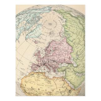 Eastern Hemisphere of Europe Postcard