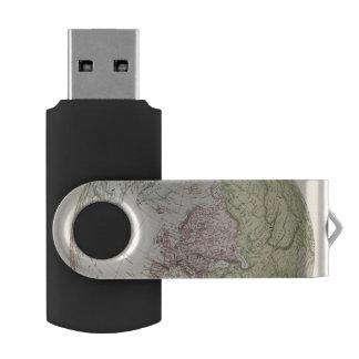Eastern Hemisphere of Europe Swivel USB 2.0 Flash Drive