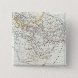 Eastern Hemisphere World Lithographed Map 15 Cm Square Badge