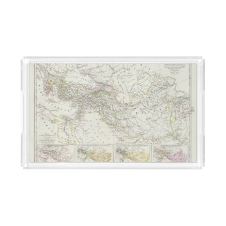 Eastern Hemisphere World Map Acrylic Tray
