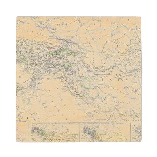 Eastern Hemisphere World Map Wood Coaster