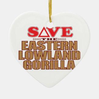 Eastern Lowland Gorilla Save Christmas Ornament