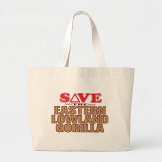 Eastern Lowland Gorilla Save Large Tote Bag