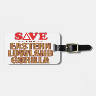 Eastern Lowland Gorilla Save Luggage Tag