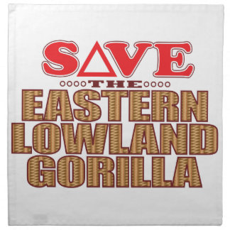 Eastern Lowland Gorilla Save Napkin