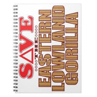 Eastern Lowland Gorilla Save Spiral Notebooks