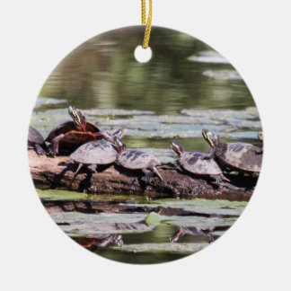 Eastern Painted Turtle Christmas Ornament