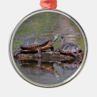Eastern Painted Turtles Christmas Ornament
