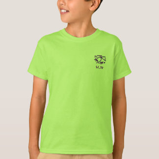 Eastern Pictograms - Blues, Purples - Monogram T-Shirt