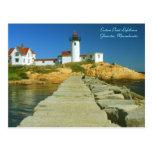 Eastern Point Lighthouse Gloucester MA Postcard