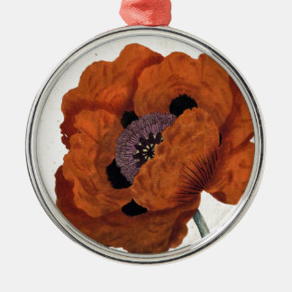 Eastern Poppy Christmas Ornament