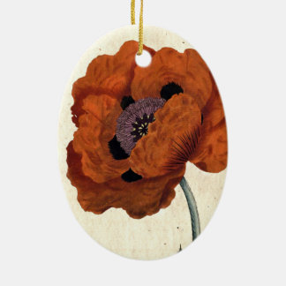 Eastern Poppy Christmas Ornament