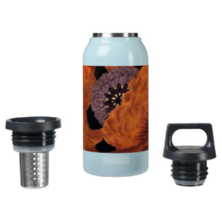 Eastern Poppy Insulated Water Bottle