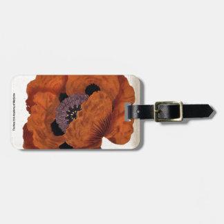 Eastern Poppy Luggage Tag