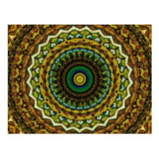 Eastern Promise Mandala Kaleidoscope Pattern Postcard