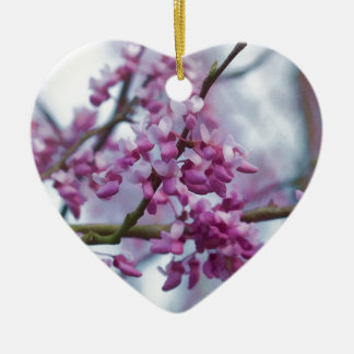 Eastern Redbud Wildflowers - Cercis canadensis Christmas Ornament