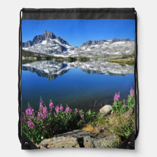 Eastern Sierra Mountains Drawstring Bag