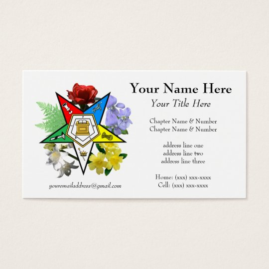 Eastern Star Floral Business Card