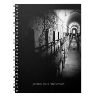 Eastern State Penitentiary Corridor - B&W Spiral Note Book