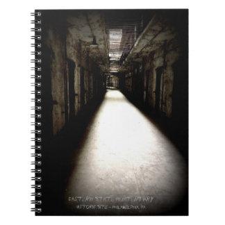 Eastern State Penitentiary Corridor Spiral Notebooks