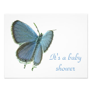 Eastern-Tailed Blue Butterfly Baby Invitation