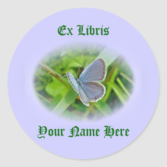 Eastern Tailed Blue Butterfly Coordinating Items Classic Round Sticker