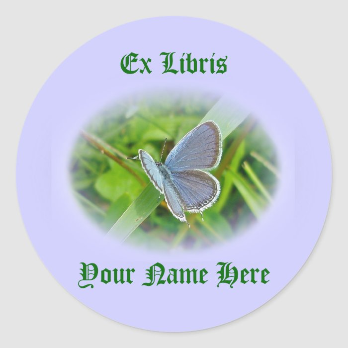 Eastern Tailed Blue Butterfly Coordinating Items Round Sticker