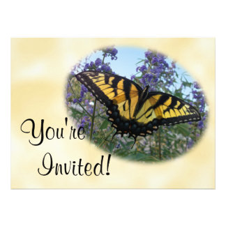 Eastern Tiger Swallowtail Butterfly Custom Invites