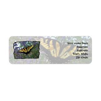 Eastern Tiger Swallowtail Butterfly Return Address Label