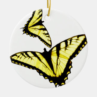 Eastern Tiger Swallowtail Butterfly Photo Round Ceramic Decoration