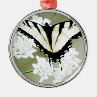 Eastern Tiger Swallowtail Butterfly Photo Silver-Colored Round Decoration