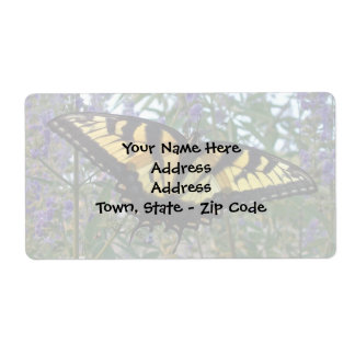 Eastern Tiger Swallowtail Butterfly Shipping Label