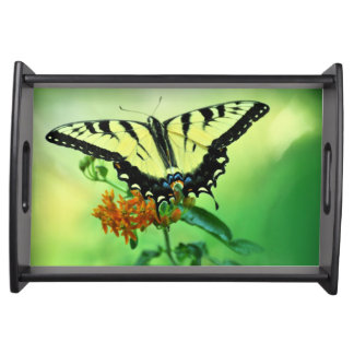 Eastern Tiger Swallowtail Butterfly Tray Service Trays