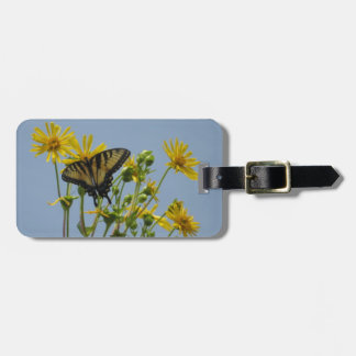 Eastern Tiger Swallowtail on Yellow Daisies Luggage Tag