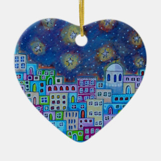 Eastern Town Ceramic Heart Decoration