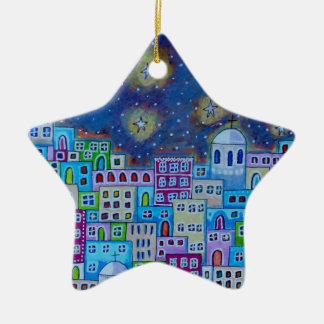 Eastern Town Ceramic Star Decoration